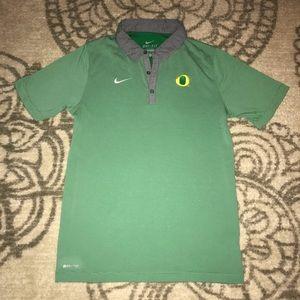 Men's Nike DryFit Polo Oregon Ducks, Button Collar